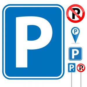 Orlando outside signs for business and parking